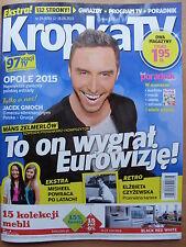 Måns Zelmerlöw on front cover KROPKA TV 24/2015 - Eurovision 2015 Winner, Sweden