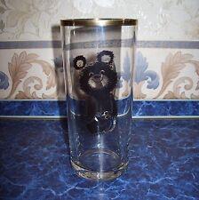 XXII MOSCOW80 Vintage USSR Glass beer mug OLYMPIC BEAR mishka Emblem Olympic1980