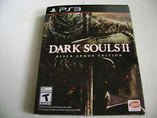 DARK SOULS II BLACK ARMOR EDITION PLAYSTATION 3 STEEL BOOK Slipcover Complete
