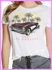 GUESS Jeans Car Print  Logo Tank T-shirt Tee T shirt Top Blouse NWT XS,S,M,L,XL