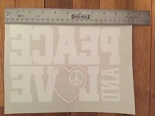 LOT 3 DECAL Peace Love Sign Embroidered Iron Vinyl Patch Embellishment T Shirt