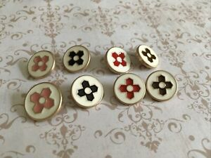 Lot8 18mm gold tone vintage Louise Vuitton Authentic Buttons Stamped
