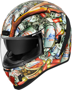 New Icon Airform Buck Fever White Motorcycle / Street Bike Helmet - All Sizes