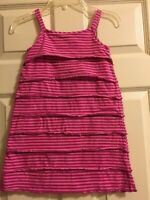 Hanna Andersson Striped Dress Girls Size 110 5-6