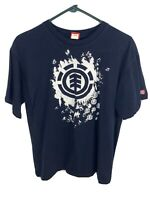 Mens Element T Shirt | Size Large | Navy Blue Skateboarding Graphic Tee