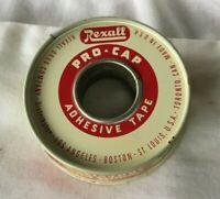 *Vintage REXALL PRO CAP ADHESIVE TAPE Tin adhesive bandage tape