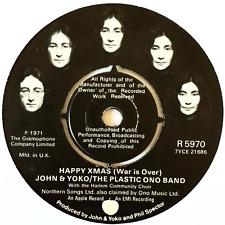 "JOHN LENNON/YOKO ONO & THE PLASTIC ONO BAND - Happy Xmas (War Is Over) (7"") (VG"