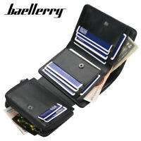 baellerry Fashion Men's Short Wallet Multi-Card Holder Tri-Fold Coin Purse Card