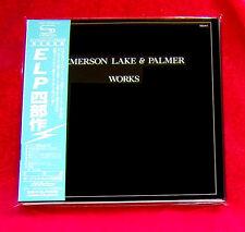 Emerson Lake & Palmer Works Volume 1 JAPAN 2 SHM MINI LP CD VICP-70155