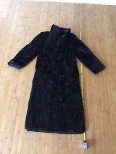 Soft Lush Gorgeous Full-Length Vintage Black Small Women's Fur Coat 1960's