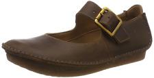 Clarks BNIB Ladies Mary Jane Shoes JANEY JUNE Tan Leather UK 6 / 39.5
