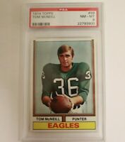 1974 Topps Football Tom McNeill Philadelphia Eagles #99 PSA 8