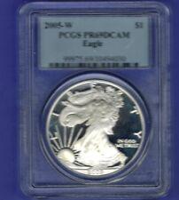 2005-W American Silver Eagle Proof - PCGS PR69 DCAM................SAS 001