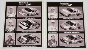 1999 PONTIAC MOTORSPORTS NASCAR B&W Press Photo Lot Of 2 STEWART PETTY BURTON