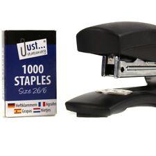 HEAVY DUTY STAPLER + 1000 STAPLES Office Desktop Desk School Stationery Paper