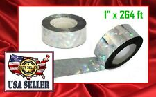 """New Bird Scare Tape Holographic Foil 2 cm x 80m / 1""""x 264 ft  Fast Shipping"""
