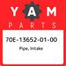 70E-13652-01-00 Yamaha Pipe, intake 70E136520100, New Genuine OEM Part