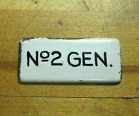 No 2 GEN Old Industrial Porcelain Sign Sm Nameplate Equipment Machinery Panel Ad