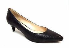 COLE HAAN Size 6.5 Black Textured Leather Low Heel Pumps Shoes 6 1/2
