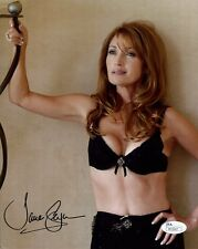 Jane Seymour Hand Signed 8x10 Color Photo Sexy Pose In Black Bra Jsa