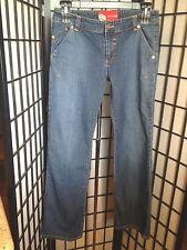 """Ecko Red Size 13 Junior Bootcut Medium Blue Denim Jeans Inseam 32"""" Waist 16.5"""""""