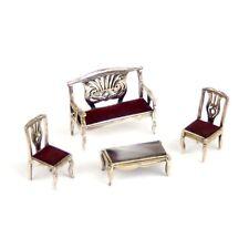 Stunning Medusa-Oro Living Room Set Sterling Silver Upholstered MoP Italy