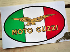 "MOTO GUZZI Tricolore & Eagle Style 8"" Pair Stickers LE MANS 750S3 850T GT Bike"