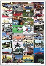 CLASSIC FIAT 1950's/60's - Retro Art Print A3 size poster - 500 Abarth Multipla