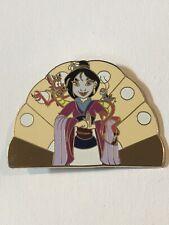 Disney Jumbo Mulan Mushu & Cri-Kee Mulan Shoulders Fan Fantasy Pin Brown Tan