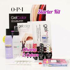 OPI GelColor Soak Off Gel Starter Intro Icons Kit: Base Top+2 O.P.I Color Set+..