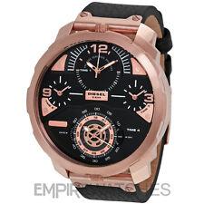 * NUEVO * DIESEL machinus 4 zona horaria para Hombre De Oro Rosa Reloj-DZ7380-RRP £ 329