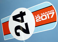 LE MANS 24 HOURS 2017 LARGE BONNET STICKER  'Racing Orange & Blue' 24 decal