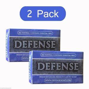 DEFENSE Soap Bar | 4 oz | 2 PACK |100% Natural & Herbal Grade Tea Tree Oil
