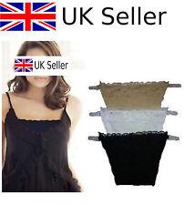 3 un. Clip en camisolas Cami secret sexy encaje conjunto paneles escisión control Reino Unido Nuevo #