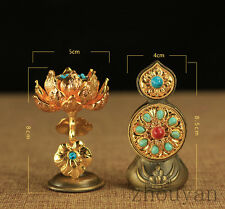 TIBETAN BUDDHISM ALTAR MUST! PAIR OF DUOMA AUSPICIOUS OFFERING FRUIT FOR BUDDHA