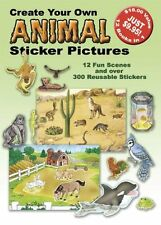 Create Your Own Animal Sticker Pictures: 12 Scenes