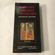 39° mazzo di carte TAROCCHI DECK CARY - YALE VISCONTI U.S. GAME SYSTEM INC. CVMA
