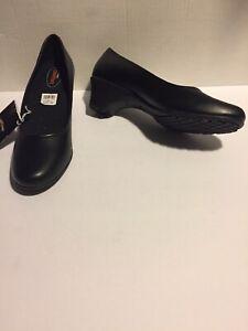Safe T Step Tressa Sz 9.5 Women's Slip Resistant Leather Shoes New W Box