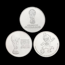 RUSSIA Set 3 COINS, 25 Rubles, FIFA WORLD CUP  RUSSIA 2018, UNC
