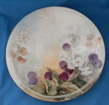 "Vintage JPL France 8.5"" Blackberry Luncheon Plate Signed Ellen Ellis ""As Is"""