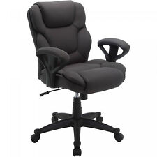 Fabric Manager Office Chair Big & Tall 300 lbs Gray Black Comfortable Computer
