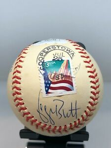 George Brett Nolan Ryan Robin Yount 1/400 Cooperstown Signed Baseball JSA COA!