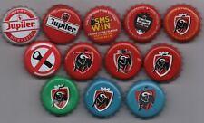 12 different JUPILER kronkorken beer bottle caps chapas tappi