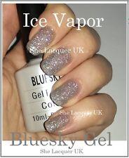 BLUESKY ICE VAPOR SILVER GLITTER EXPLOSION 80573 UV LED GEL NAIL POLISH FREE P+P