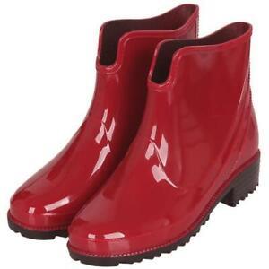 Fashion Women's Rain Boots Rubber PVC Waterproof Casual Outdoor Shoes 36/43 D