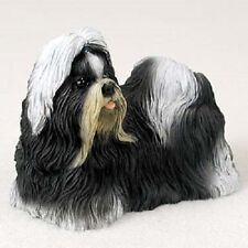 Shih Tzu B&W Dog Hand Painted Figurine Resin Statue Collectible Black White New