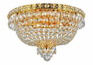 NewYork Empress - Flush Mount Basket Chandelier - Gold - W:40cm