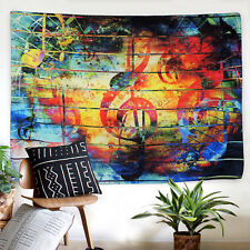 Art Colorful Music Print Tapestry New Wall Hanging Tapestry Room Bedspread Decor