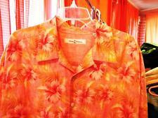 TOMMY BAHAMA HAWAIIAN SHIRT FLOWERS CAMP CASUAL!SIZE 2XLT !100%LINEN