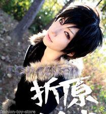 DuRaRaRa!! Orihara Izaya Straight Short Black Cosplay Anime Wig + Free Hairnet